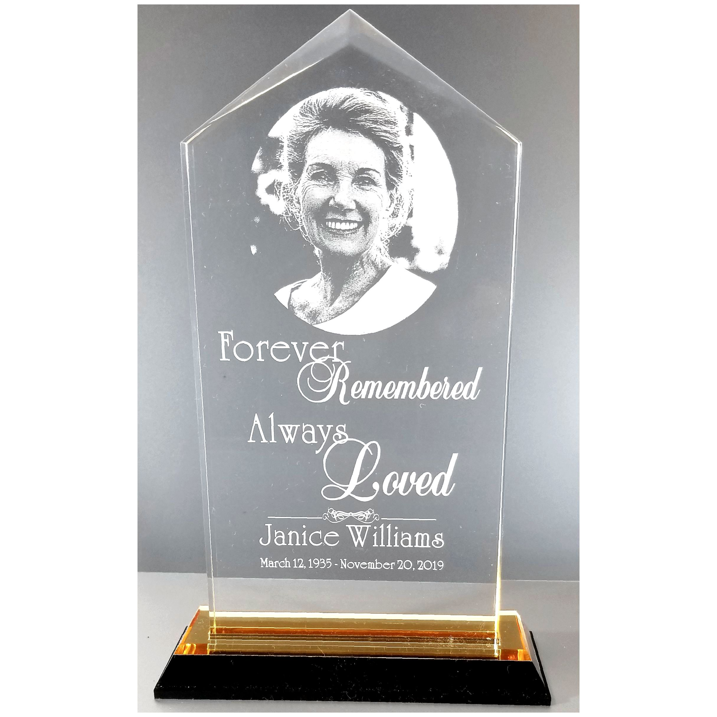 "Personalized Acrylic Plaque 7""x3.5"""