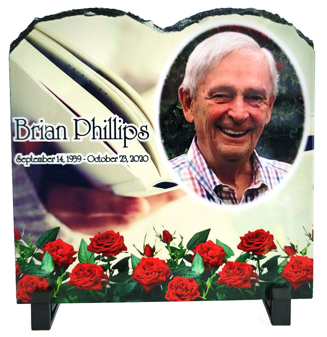 """Natural Slate Tablet Photo Plaque with stand 7.87"""" x 7.87"""""""